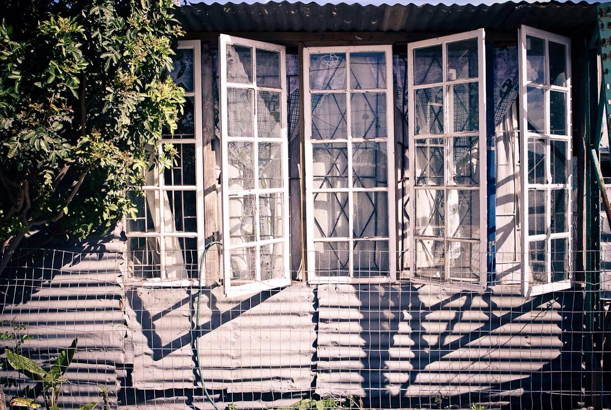 open white windows